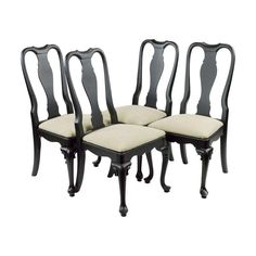 Queen Anne Dining Chairs Set Of 4