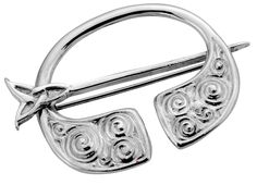 Pennanular Brooch in Sterling Silver Celtic Swirl Swivel Pin Style  * Approximately 35mm (1.4 inch) across * Secured by decorative swivel pin * Edinburgh hallmarked, Sterling Silver * Unique design inspired by Celtic forms * Made with finest traditional materials * Individually hand-crafted in Scotland in a family run workshop * Presentation boxed to make a great gift