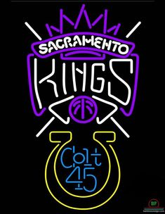 Colt 45 Sacramento Kings Neon Sign NBA Teams Neon Light