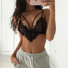 2017 Sexy Bandage Lace Bralette Bralet Crop Top Bra Unpadded Hollow Out Bra Bustier Women Sheer Triangle Bra Top Intimates CamisCheap bra underwear, Buy Quality triangle bra directly from China sheer triangle bra Suppliers: Women Sexy Lingerie Transp Sexy Lingerie, Lingerie Bonita, Ensemble Lingerie, Jolie Lingerie, Pretty Lingerie, Beautiful Lingerie, Women Lingerie, Babydoll Lingerie, Sexy Bra