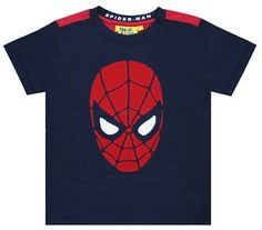 FFSM64 Spider-man Face Applique T-Shirt