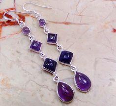   Handcrafted Amethyst Earrings : Sterling Silver Amethyst Earrings Wholesale Buy Online  