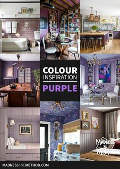 Are you team purple, or not a chance!? Let this colour inspiration for purple interiors convince you how purple can be used anywhere! Purple Interior, Colour Inspiration, Outdoor Projects, Madness, Gallery Wall, House Design, Interiors, Posts, Blog
