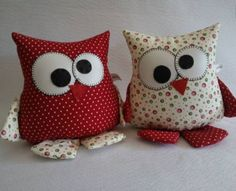 Amazing Home Sewing Crafts Ideas. Incredible Home Sewing Crafts Ideas. Owl Sewing, Sewing Toys, Sewing Crafts, Sewing Projects, Fabric Toys, Fabric Scraps, Owl Crafts, Kids Crafts, Sewing Stuffed Animals