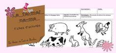 Les animaux de la ferme - La classe de Teet et Marlou Activities, Blog, Farm Animals, Blogging