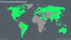 ​ A cartographic guide to Starbucks' global domination - Quartz