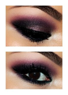Smokey Purple Makeup. I love it! Going to so this when I go out!!!