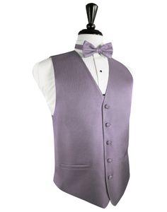 "Periwinkle ""Premier"" Satin Tuxedo Vest"