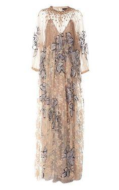 Embellished Maxi Dress by Biyan Resort 2019 Hijab Evening Dress, Hijab Dress Party, Evening Dresses, Simple Dresses, Pretty Dresses, Beautiful Dresses, Couture Dresses, Fashion Dresses, Dress Brokat