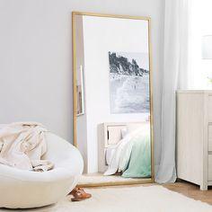 Teen Furniture, Find Furniture, Bedroom Furniture, Pottery Barn Bedrooms, Pottery Barn Teen, Modern Floor Mirrors, Gold Floor Mirror, Oversized Floor Mirror, Gold Bedroom