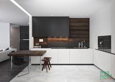 Awesome 41 Inspiring Black and White Kitchen Design Info http://freshouz.com/41-inspiring-black-white-kitchen-design/