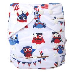 Baby Reusable & Washable White Owls Pocket Diaper, 38% discount @ PatPat Mom Baby Shopping App