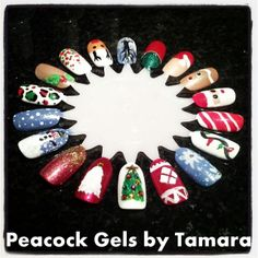 Christmas Practice Nail Art For Manicure And Pedicure