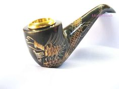 DRAGON Engraving Smoking Pipes Handmade Buffalo Horn