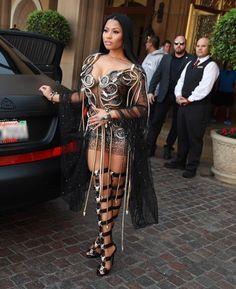 Nicki Minaj Turns Heads In Jaw-Dropping Sheer Outfit