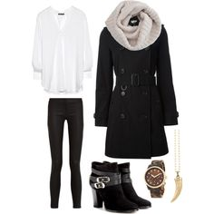 Winter outfit idea for a night out