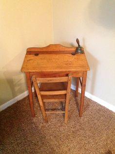 Child's school desk,fell in love with this at an Antique show,and had to have it.