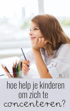Hoe help je kinderen bij het concentreren? Co Teaching, Teaching Ideas, Educational Crafts, Family Organizer, Teacher Tools, School Hacks, Kids Learning, Parenting, Train
