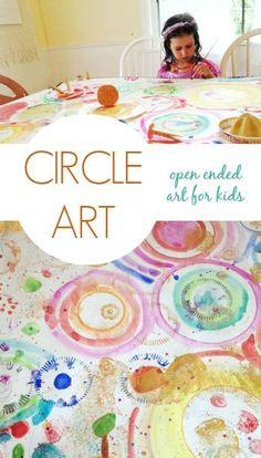Circle Art :: An Open Ended Art Activity for Kids - Artful Parent