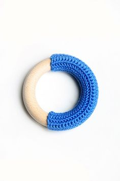 Crochet teething ring. Cute, but what happens to the yarn after its been drooled on?