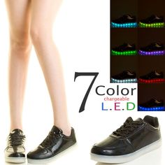 7 Color Led Light Flatform Heel Lace Up Womens Sneaker Ankle Booties Charger