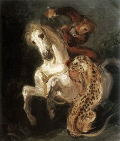Eugène_Delacroix_-_Jaguar_Attacking_a_Horseman_-_