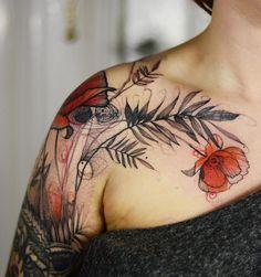 Time Tattoos, Body Art Tattoos, Cool Tattoos, Tatoos, Flower Tattoos, Leaf Tattoos, Sleeve Tattoos, Elegant Tattoos, Beautiful Tattoos