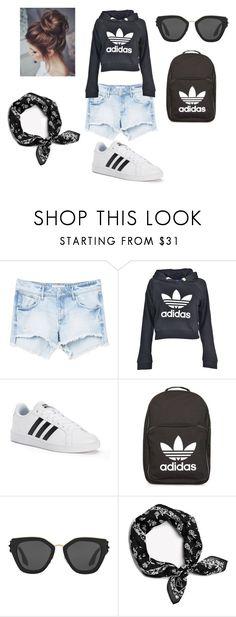 """""""Adidas look #1"""" by steffie-welvaert on Polyvore featuring mode, MANGO, adidas, Prada en rag & bone"""