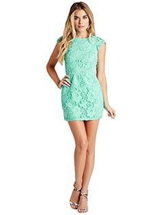 bf8a6657a5 GUESS Women s Lace Open-Back Dress