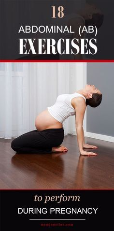 18 Safe Abdominal (Ab) Exercises To Perform During #Pregnancy