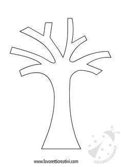 albero-inverno-1 Fall Arts And Crafts, Winter Crafts For Kids, Autumn Crafts, Autumn Art, Autumn Trees, Spring Crafts, Winter Tree Drawing, Tree Drawing For Kids, Tree Drawing Simple