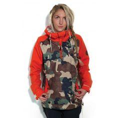 686 Parklan Savanna Anorak Womens Snowboard Jacket - Hunter Canvas Camo