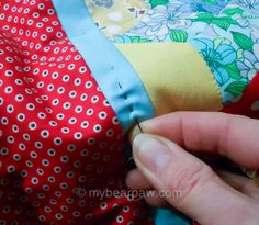 she can quilt: Hand Quilting with Jo - a 2013 FAL tutorial - very understandable.