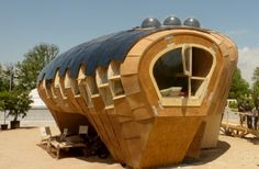 Fab Lab House - incredible passive & active natural energy home. Reminds me of an airship! (Photo 3 of 4)