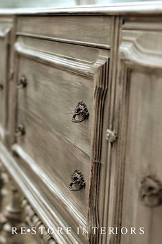 Love how this is painted! GRAY BUFFET