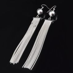 24e6ac2bb225 Vintage Inspired Metal Tassel Earrings Pendientes De Oro