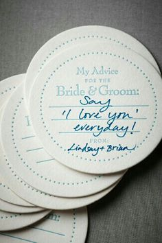 Advice for bride and groom