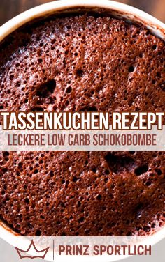 Tassenkuchen Rezept: Megaleckere Low Carb Schokobombe – Keep up with the times. Chocolate Bomb, Low Carb Chocolate, Healthy Desserts, Healthy Drinks, Healthy Recipes, Clean Recipes, Sweet Recipes, Cupcakes, Dessert Sauces