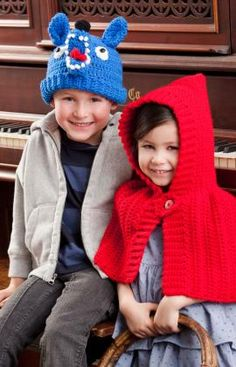 Red Riding Hood & The Wolf Free Crochet Pattern from Red Heart Yarns