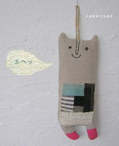 Fabrickaz+idees-little bear with patchwork on front