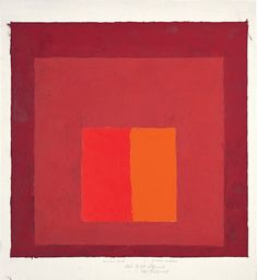 Josef Albers, Color Study for Homage to the Square,  oil on blotting paper; The Josef and Anni Albers Foundation, inv. no. 1976.2.336 33 x 30.4 cm