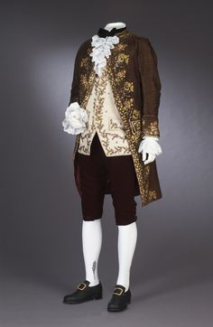 Gentleman's Coat, ca.1790, cut velvet and cotton