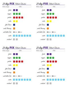 21 day fix free tracking printable
