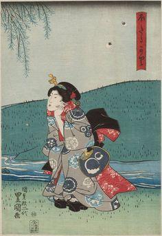 Utagawa Kunisada: Catching Fireflies (Hotaru gari) - Museum of Fine Arts