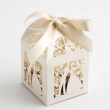 Filigrane Brautpaar Geschenkschachteln, auch in weiß erhältlich.