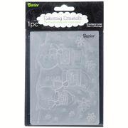 Darice® 4.25 x 5.75 Embossing Folder: Horizontal Snowman Product ID : 1215-57
