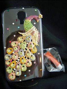 FREE SHIP. Holiday inventory now arriving. Samsung Galaxy S4 Phone Cover Skin Case Multi-color Peacock ELEGANT Bling.