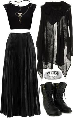 Oooh Witchy! And those boooooots <3 *I need to get some Less beat to shit combat boots, or new Harleys or something....