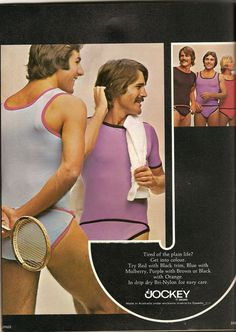 Drip dry Bri-Nylon...old mens' underwear ads