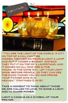 prayer stations - light unto the world